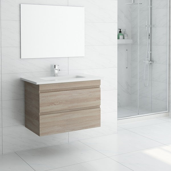 750 Forest Timber Oak Wall Hung Vanity