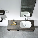 Picasso Black 1300 Vanity With Black Shelf By indulge®