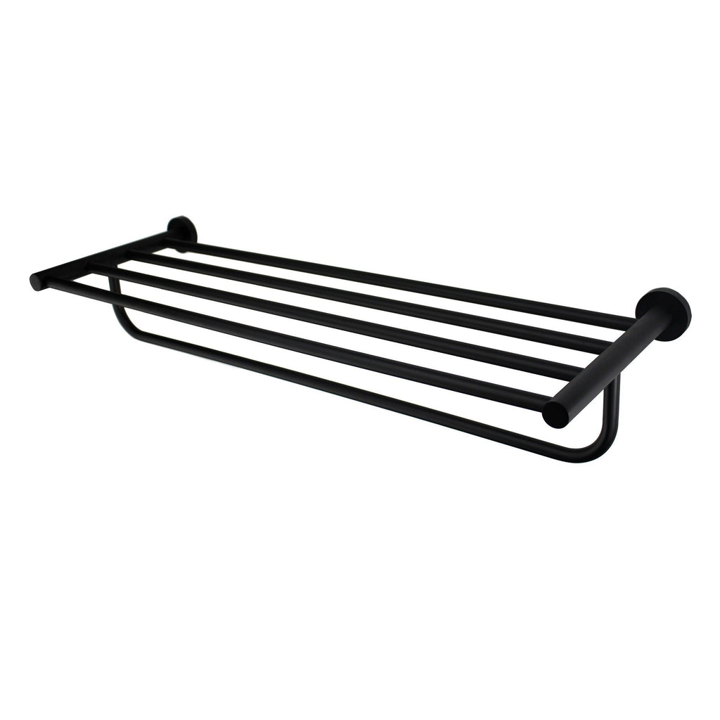 Mirage Black Towel Rack