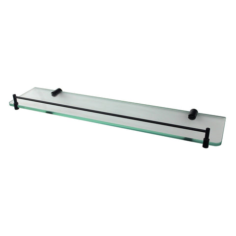 Mirage Black Glass Shower Shelf