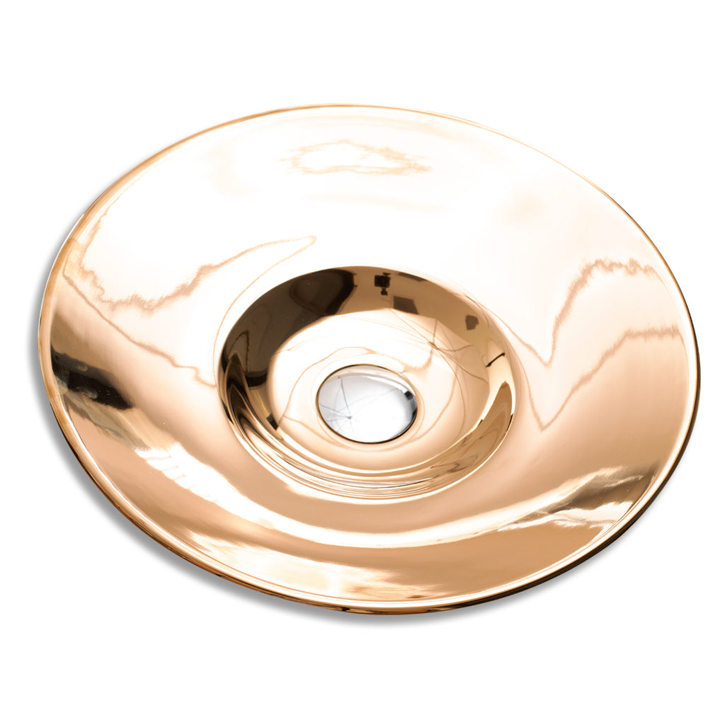 415 mm Rose Gold Metalic Semi Insert Counter Basin