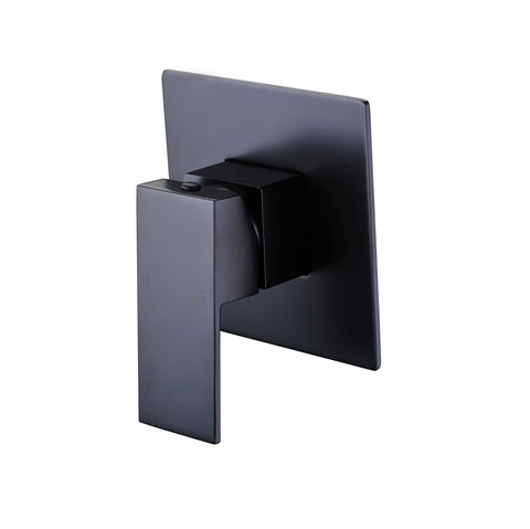 Messina Matte Black Square Wall Mixer