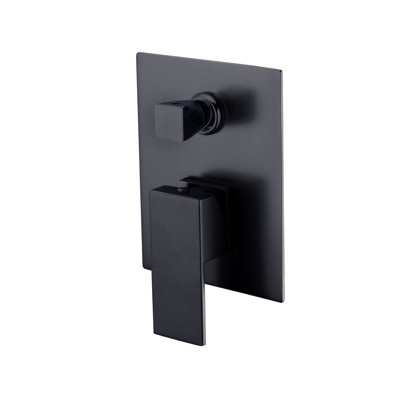 Messina Matte Black Square Wall Diverter