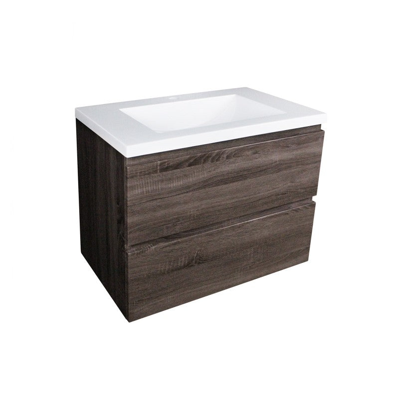 Qubist 600 Dark Grey Wall Hung Vanity