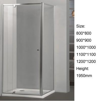 Corner Pivot SemiFramed Shower Screen 6 mm