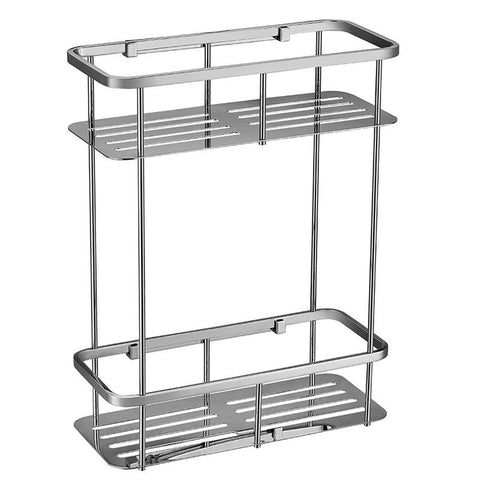 Square Double Stainless Steel Shelf