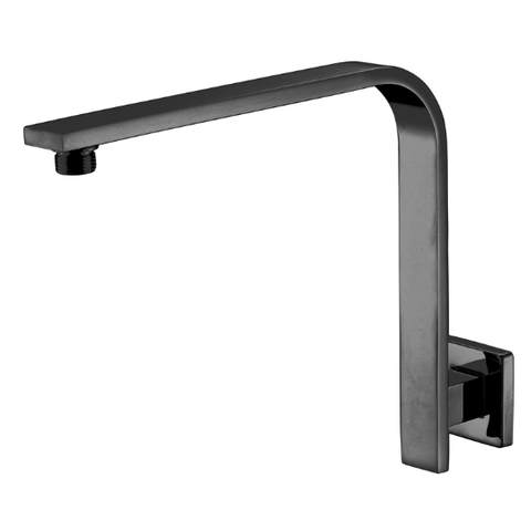 Black Messina Square 285 mm Gooseneck Shower Arm