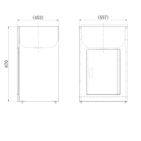 455 x 560 x 870 mm Laundry Tub