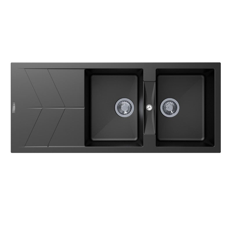 Carysil | 1160 Jazz Black Granite Kitchen Sink