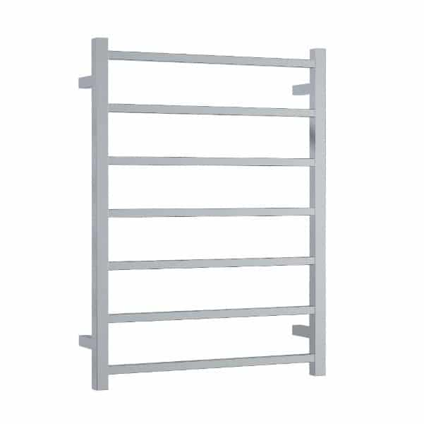 Thermogroup Seven Bar Square Ladder Heated Towel Rail 600 x 800 x 120