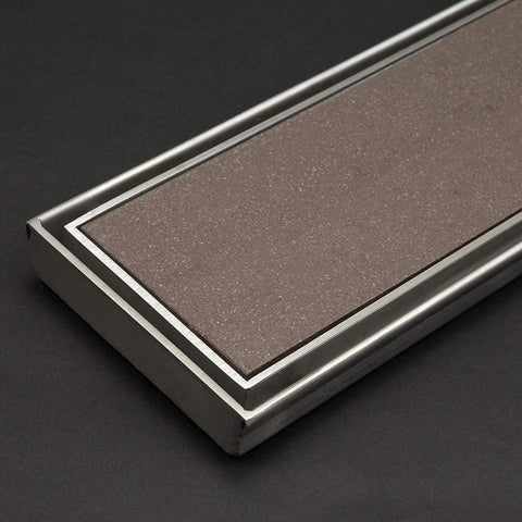 600 x 100 mm Wide Tile Insert Floor Grate No Drain