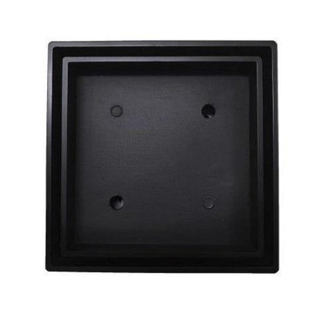 115 mm Black Square Floor Waste
