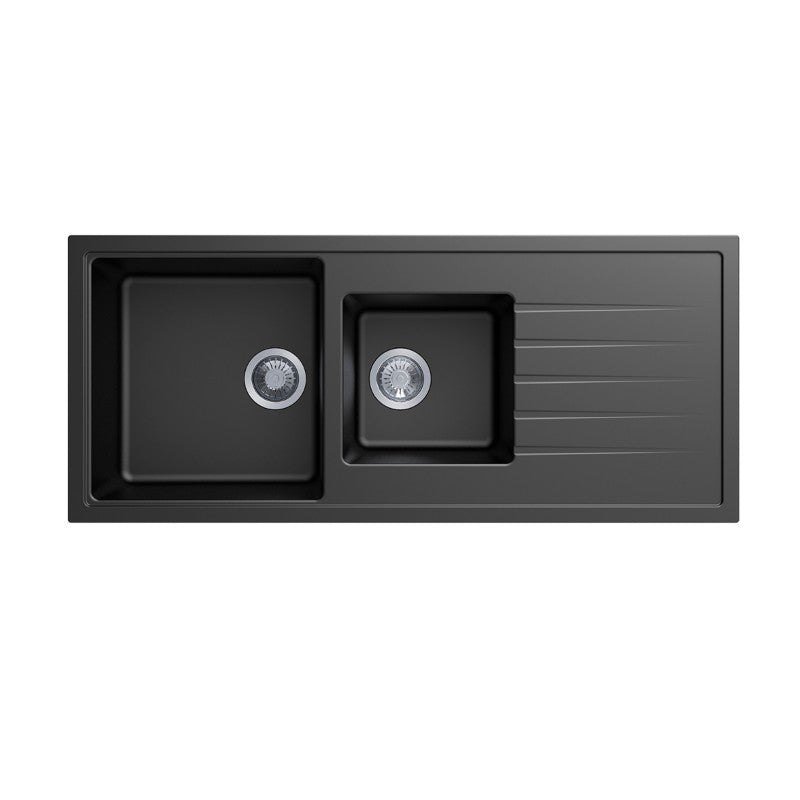 Carysil | 1160 Vivladi Black Granite Kitchen Sink