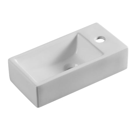 405 x 205 x 105 mm Mini Wall Hung Basin