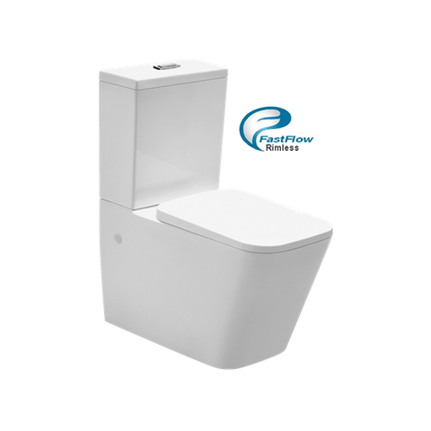 X-Cube Rimless Wall Faced Toilet Suite