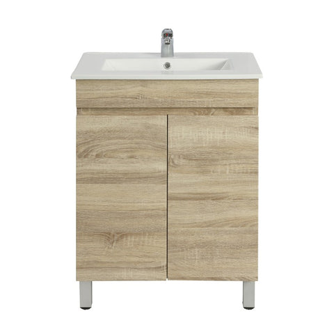 Berge 600 White Oak Narrow Freestanding Vanity