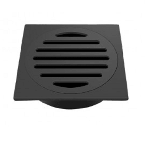 100 mm Square Black Floor Waste