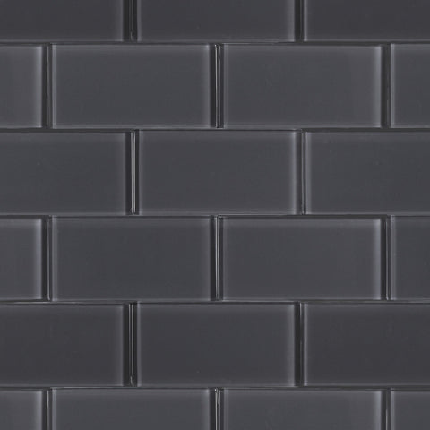 75 x 150 mm Dark Grey Subway Pencil Feature wall tiles