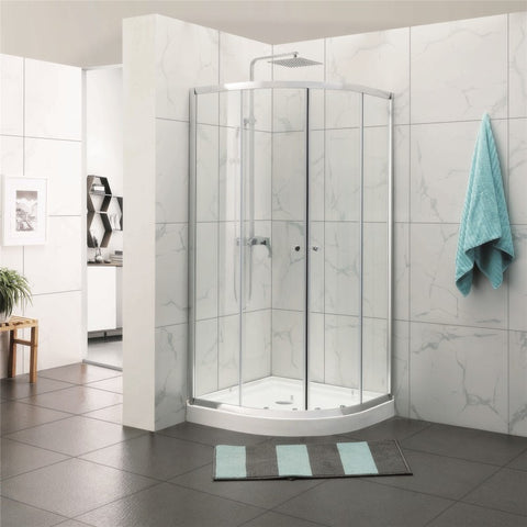 900 Round Sliding Framed Shower Screen