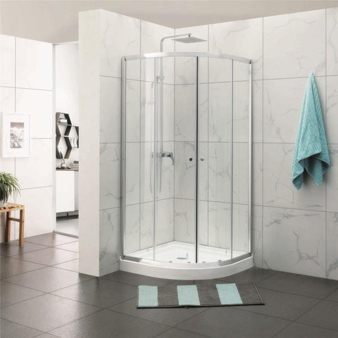 1000 Round Sliding Framed Shower Screen