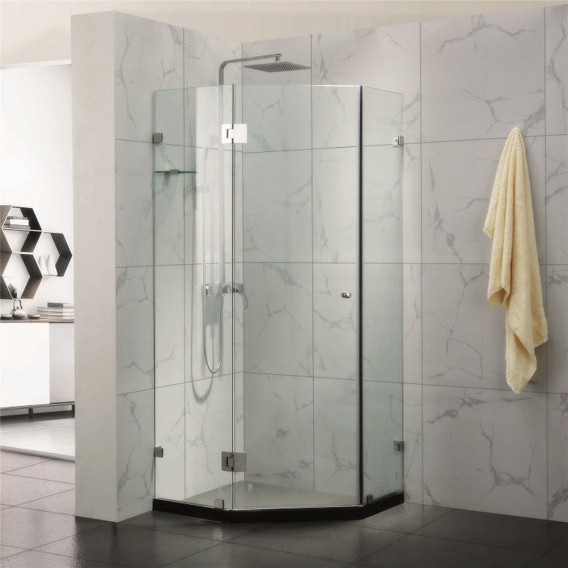 900 x 900 mm Diamond Frameless Shower Screen