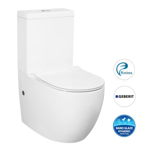 Cosenza Rimless Wall Faced Toilet Suite