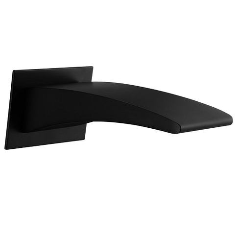 Ocean Matte Black Waterfall Bath Spout