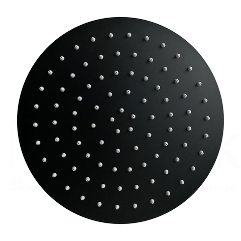 Novara 200 mm Slim Black Shower Head