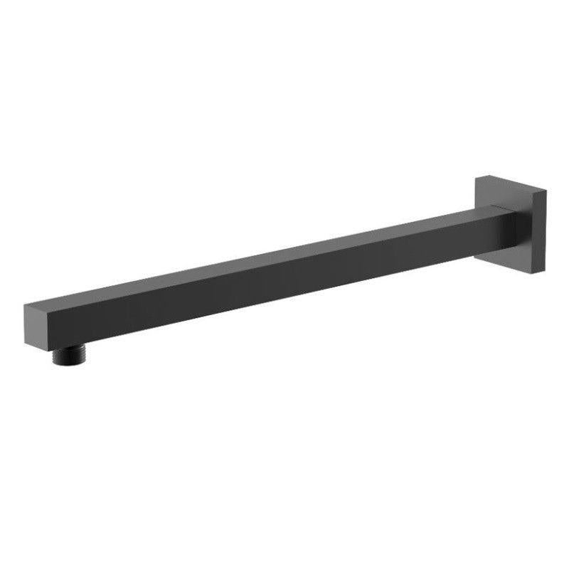 Messina Square 400 mm Black Shower Arm