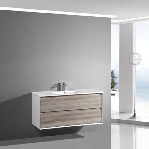 900 Luxury Timber Wall Hung Vanity