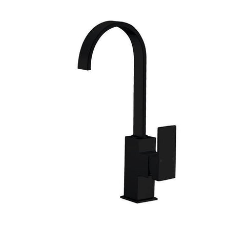 Messina Round Black Kitchen Sink Mixer