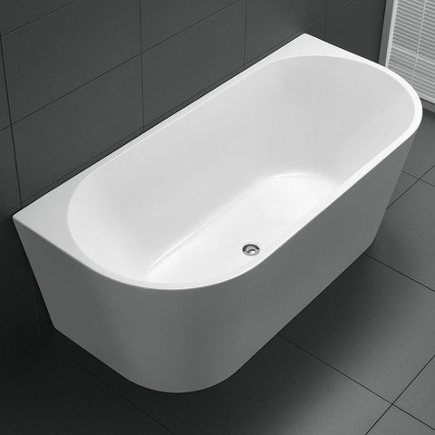 Meridian Round Back to Wall Freestanding Bath Tub