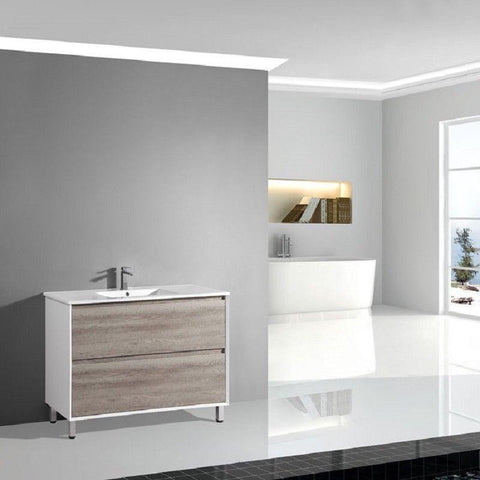 900 Luxury Timber Standing Vanity