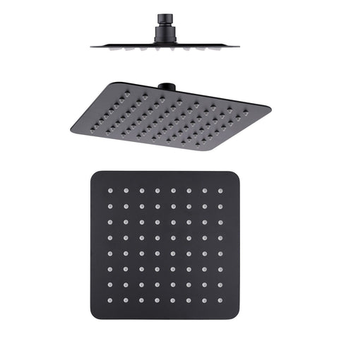 250 mm Matte Black Slim Shower Head