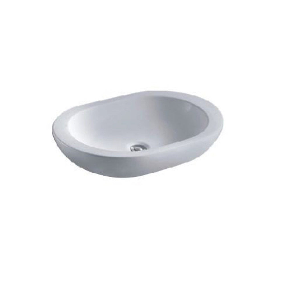 600 x 415 x 115 mm Oval Above Counter Basin