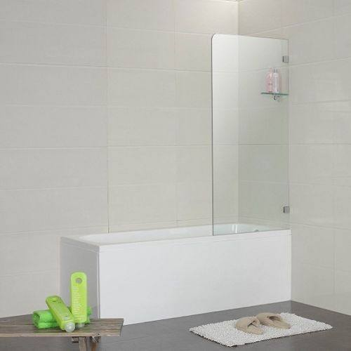 700 x 1450 mm Frameless Over Bath Screen