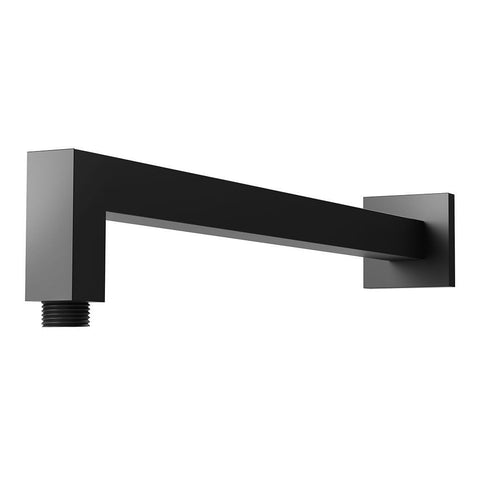 Messina Square Black 400 mm Shower Arm