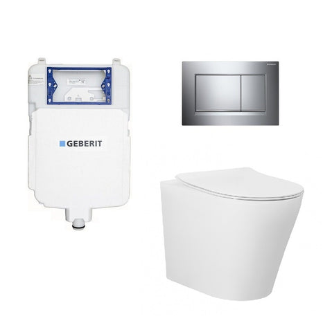 Geberit Alzano Rimless In Wall Toilet Suite Package