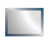 Smoke Frame Designer Bevel Mirror 1500 x 700 mm