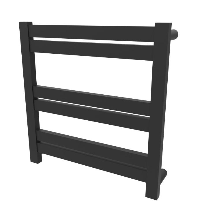 Siena Square Black Electric Heated Towel Rack 6 Bars