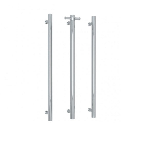 Thermogroup Straight Round Vertical Single Bar Heated Towel Rail