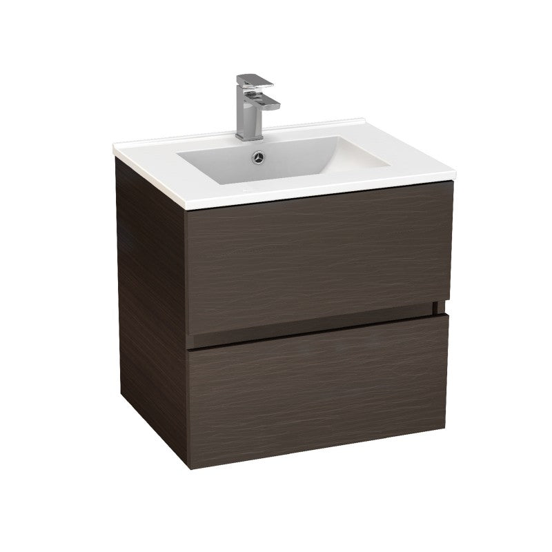 Stella Walnut 600 Wall Hung Vanity