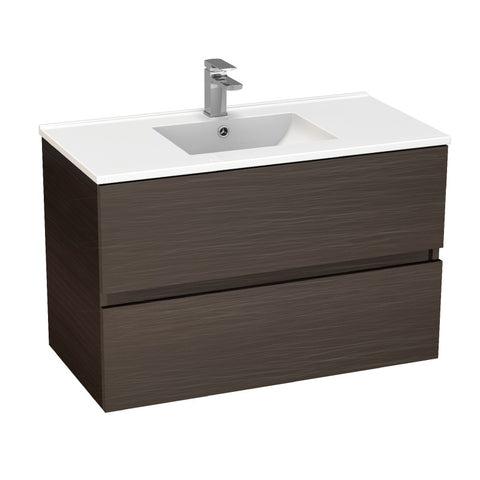 Stella Walnut 900 Wall Hung Vanity