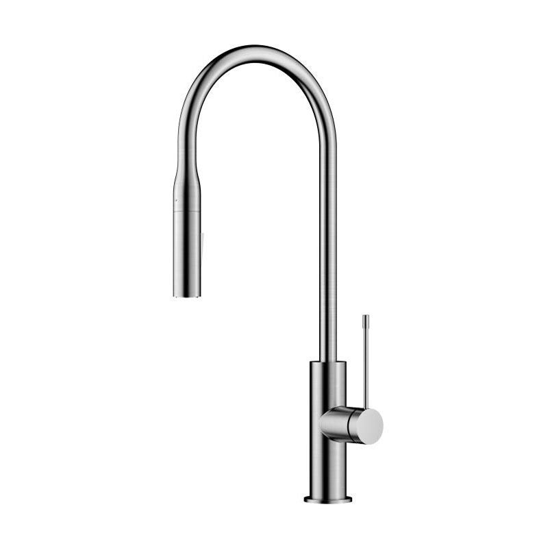 Aziz Brushed Nickel Pull Out Kitchen Mixer