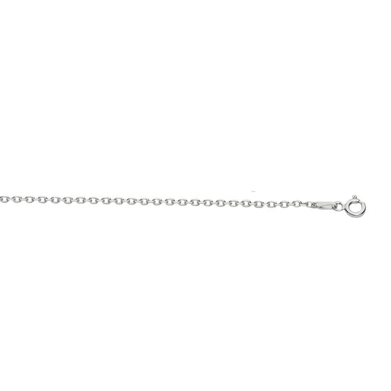 Cable Chain, Sterling Sliver Diamond Cut