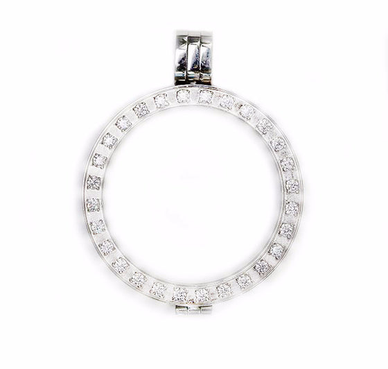 Pendant Setting Stainless Steel with Crystals (2 sizes)