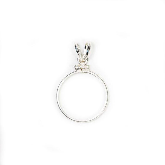 Pendant Setting Sterling Silver Classic with Rabbit Ear Bail (1 size)