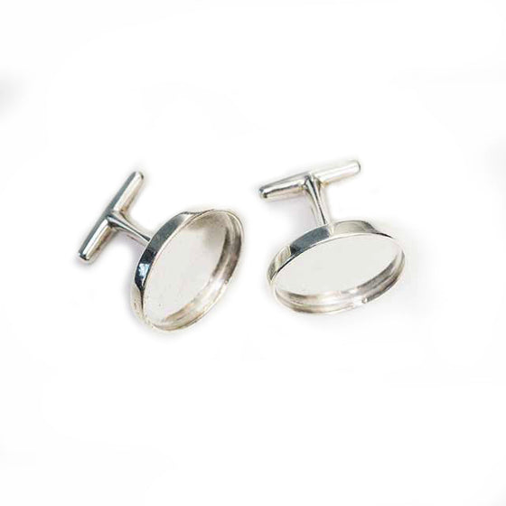 Cufflinks Sterling Silver (small 19mm)