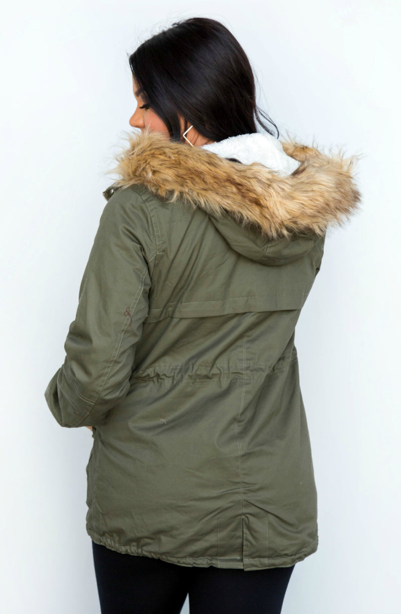 Secret Trails Faux Fur Hooded Coat- 2 colors