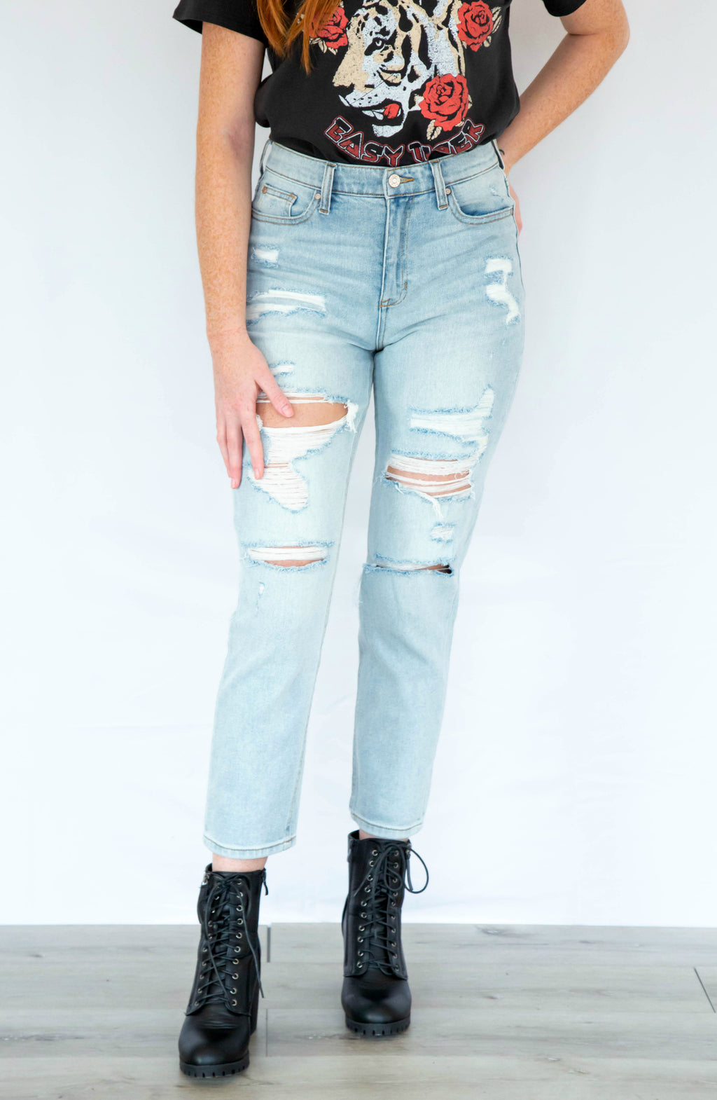 Stacey's Mom High-Rise Straight Leg Jean